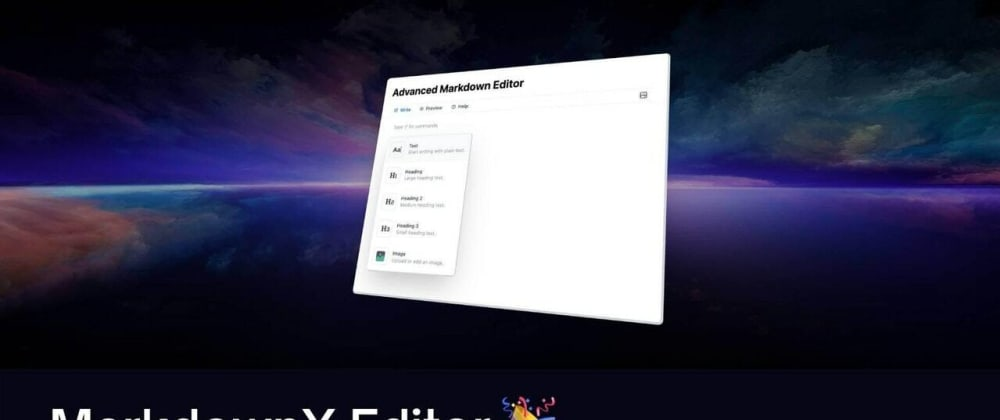 Cover image for MarkdownX Editor 🎉