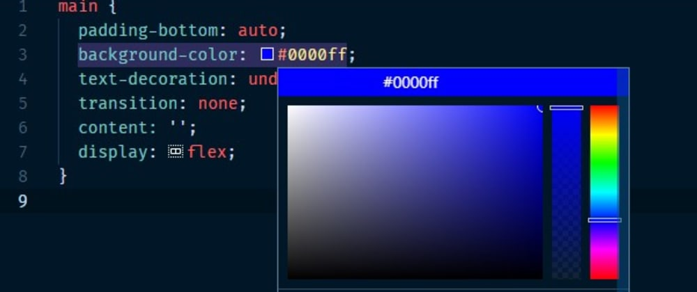 Cover image for Easy way to switch color formats in VS Code