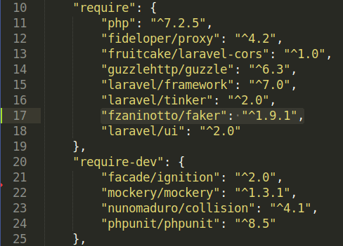 """Moving faker from """"require-dev"""" to """"require"""""""