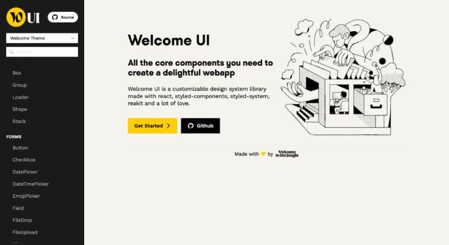 Welcome UI