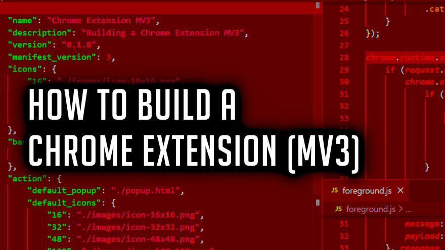 building chrome extension manifest version 3