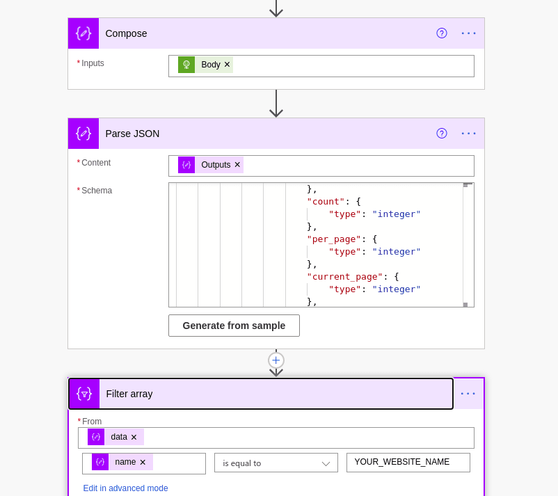 Data actions