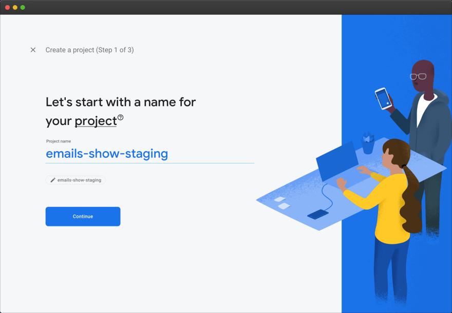 Firebase – new project