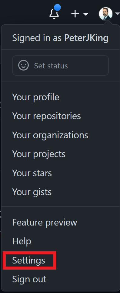 GitHub - Settings