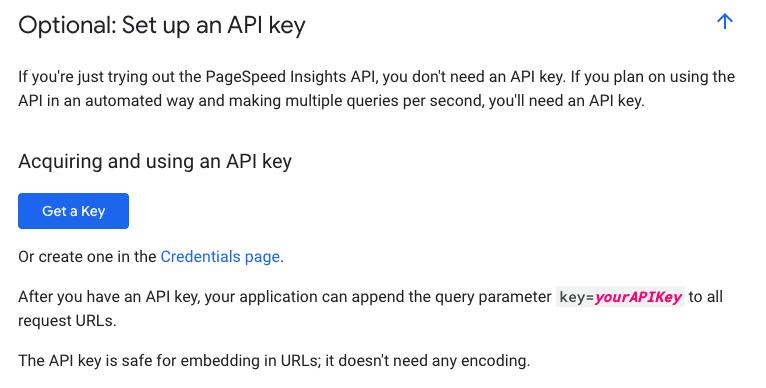 Set up an API Key