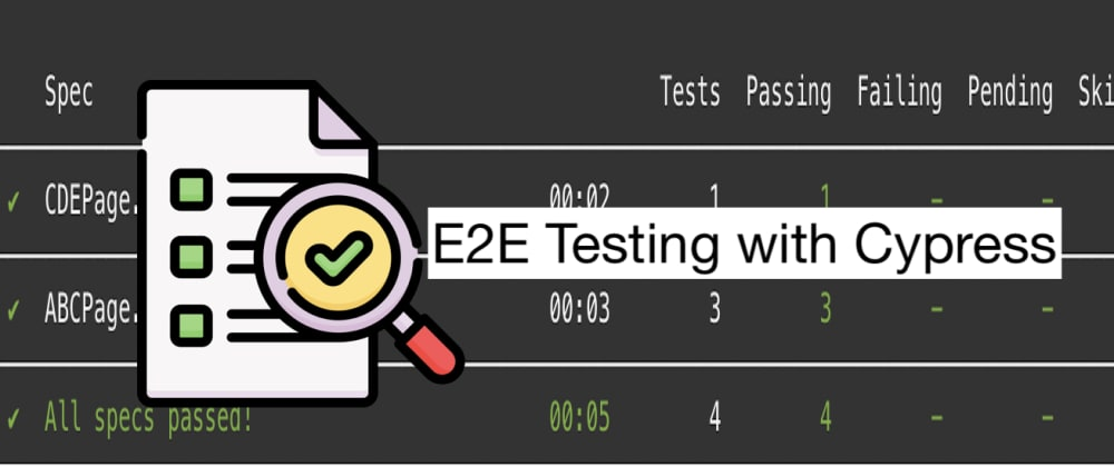 Cover image for React E2E Testing made easy using Cypress and Jenkins
