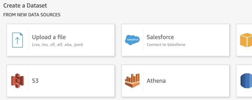 Select Athena Data source