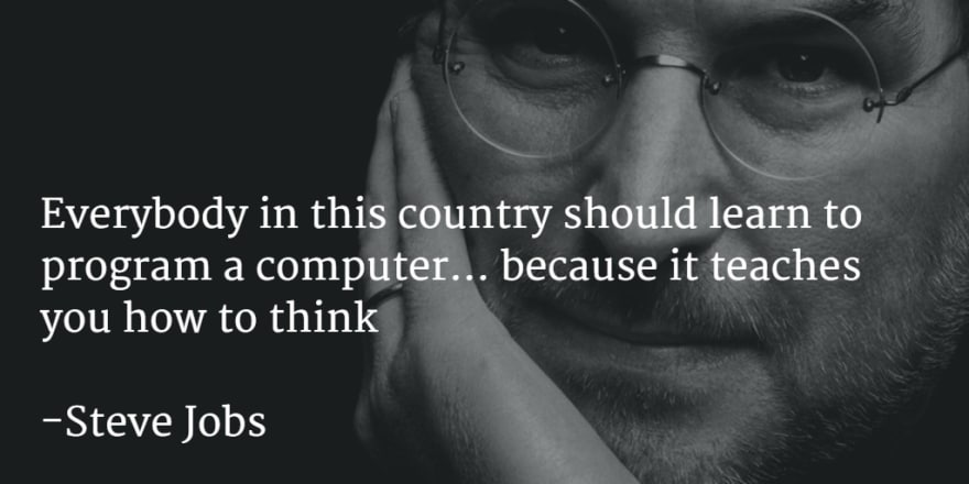 Jobs portrait with a quote