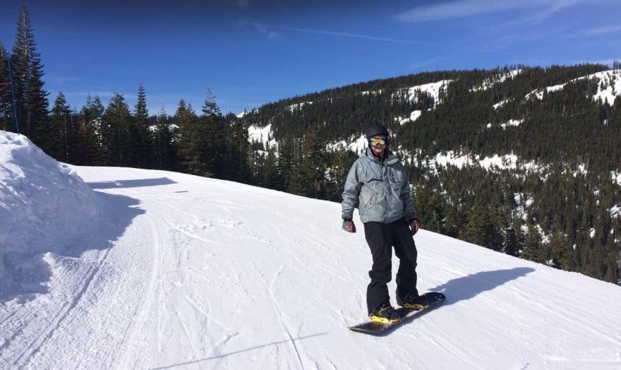 Marek snowboarding