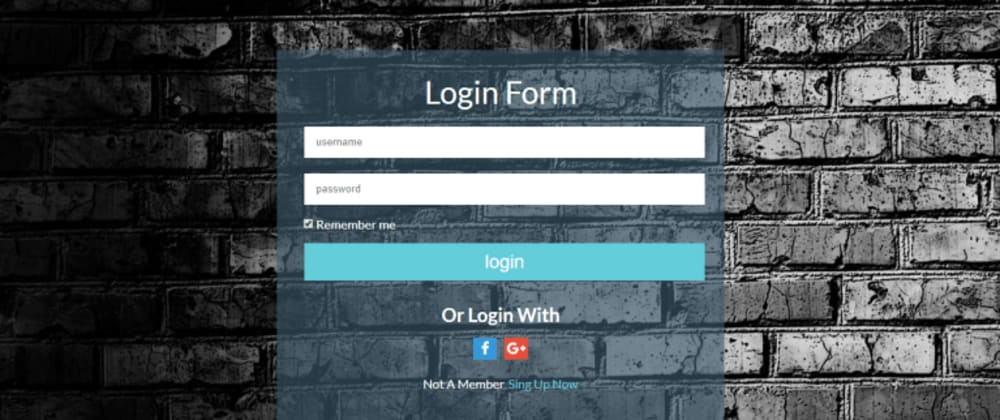 Cover image for Login Form In Pug