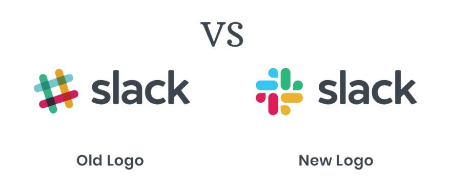 Slack logo: New vs old