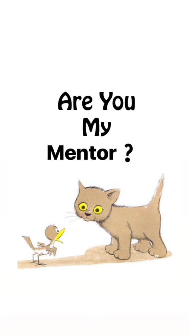 """are you my mentor?""a bird asks a cat"