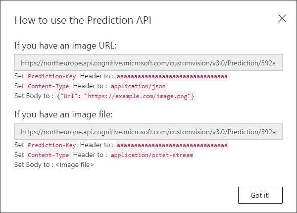 Prediction key