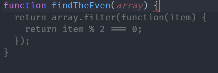 Even Number Function