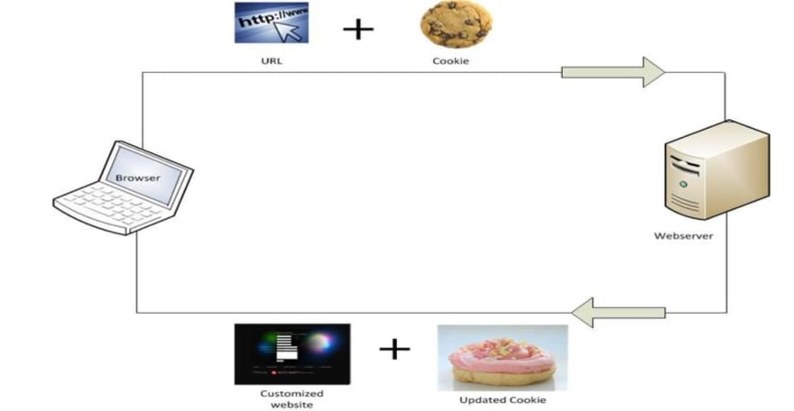 Fig. 2: Browsing With Cookies