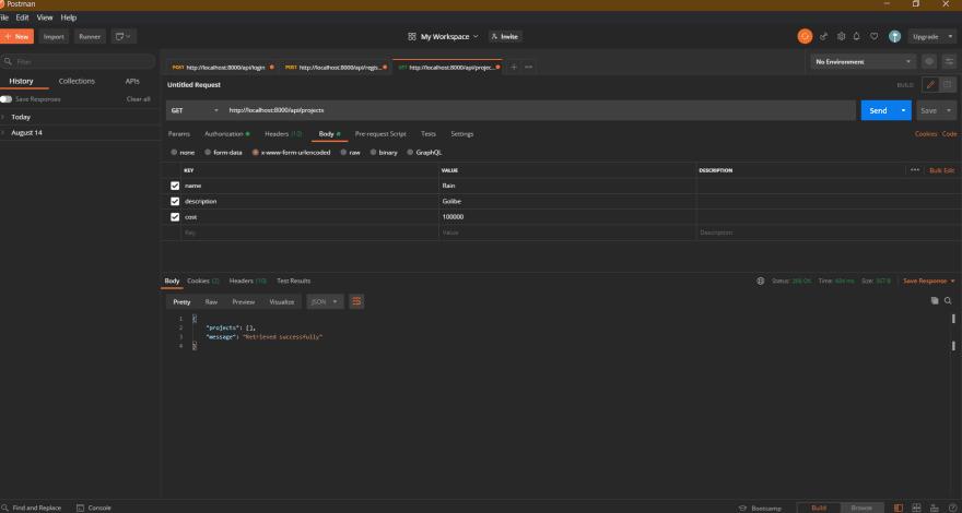 empty database
