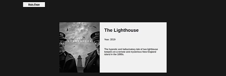 Single Page Application - The Lighthouse 2019 Page