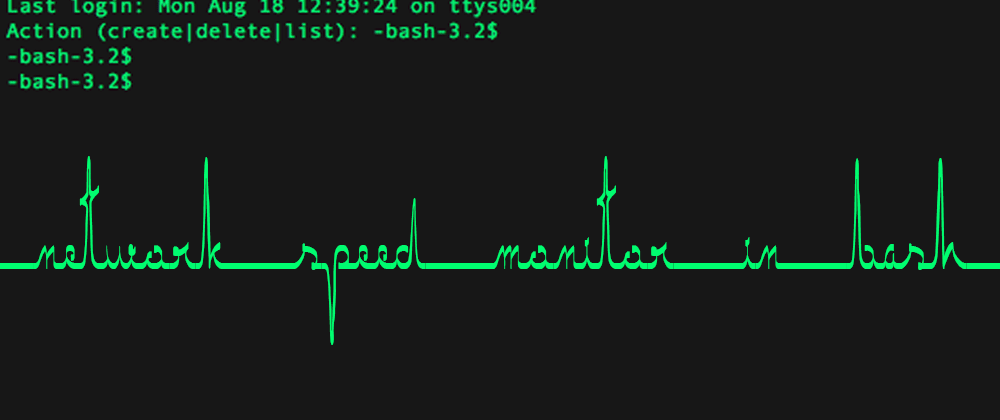 Cover image for Build a network speed monitor in bash with AWK