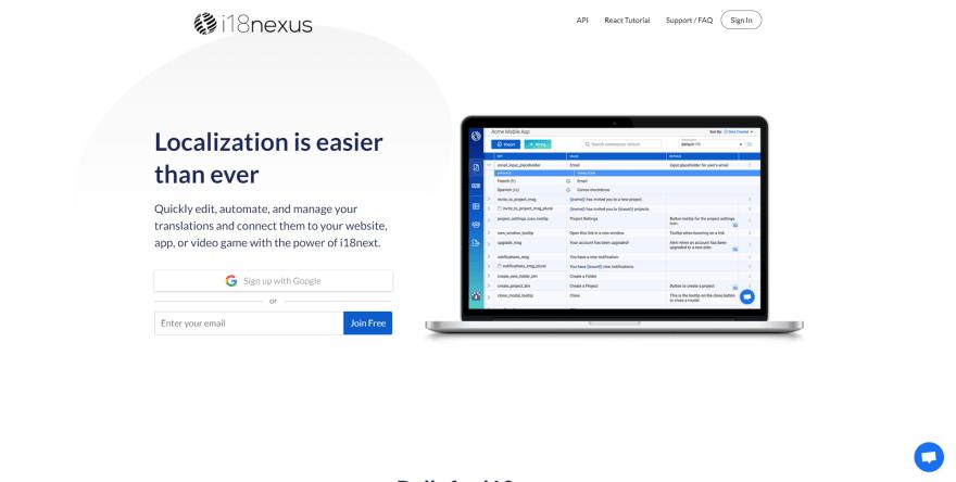i18nexus.com Homepage