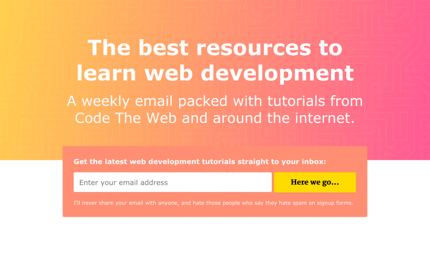Code The Web Weekly Newsletter