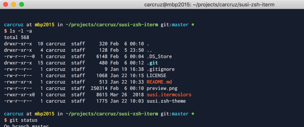 Cover image for Susi zsh + iterm theme