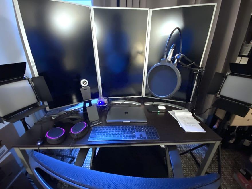My Meetup Host Desk Setup