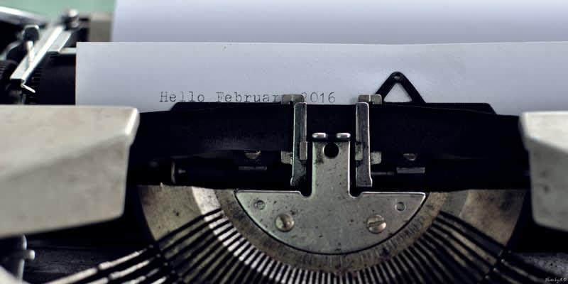 Macro typewriter ribbon
