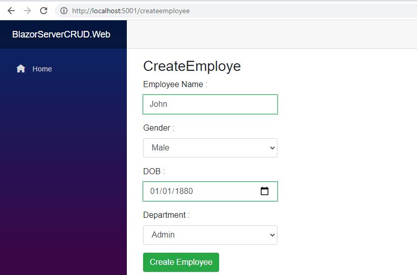CreateEmployee