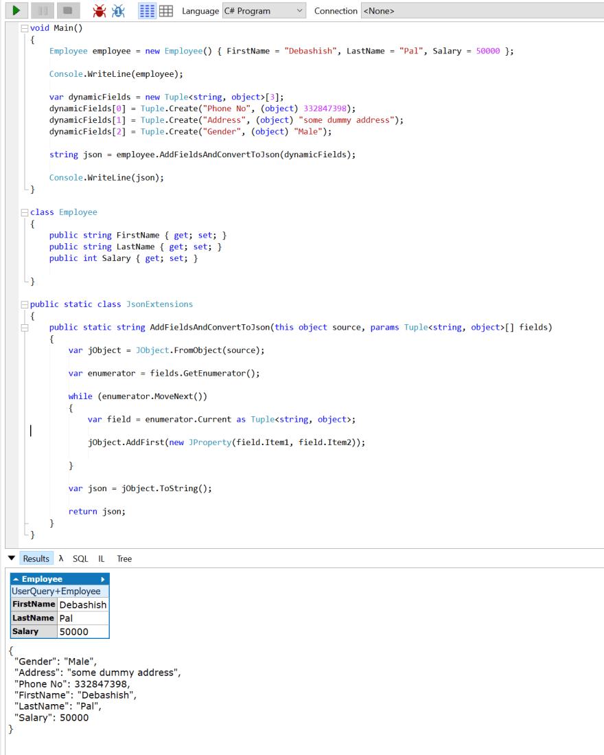 Solve the scenario - using JObject in Dotnet