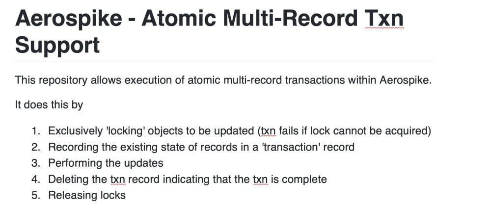 Cover image for Multi Record Transactions for Aerospike