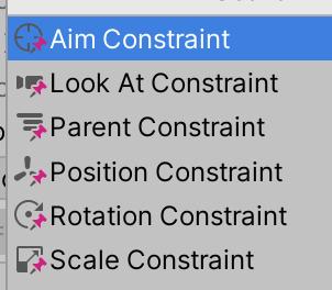 Screen capture of list of constraint components