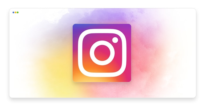 artwork depicting a stylized Instagram logo