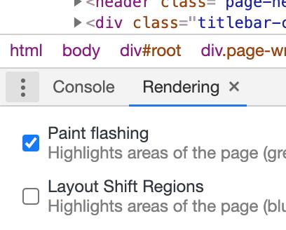 Paint flashing option