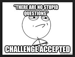 There are no stupid questions: challenge accepted