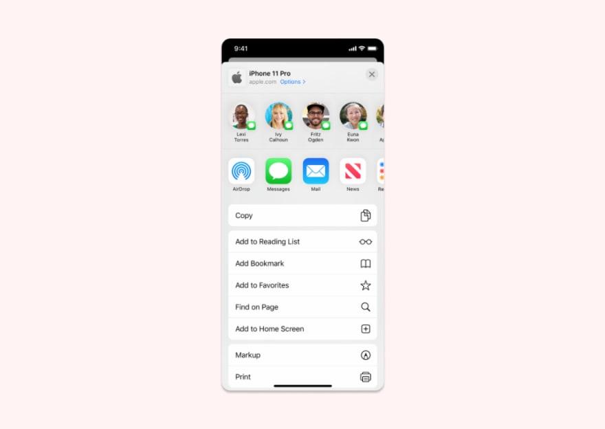 Share Widget in Flutter App