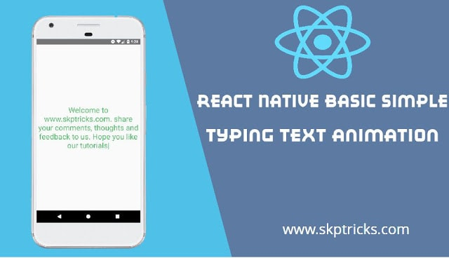 React Native Basic Simple Typing Text Animation - DEV