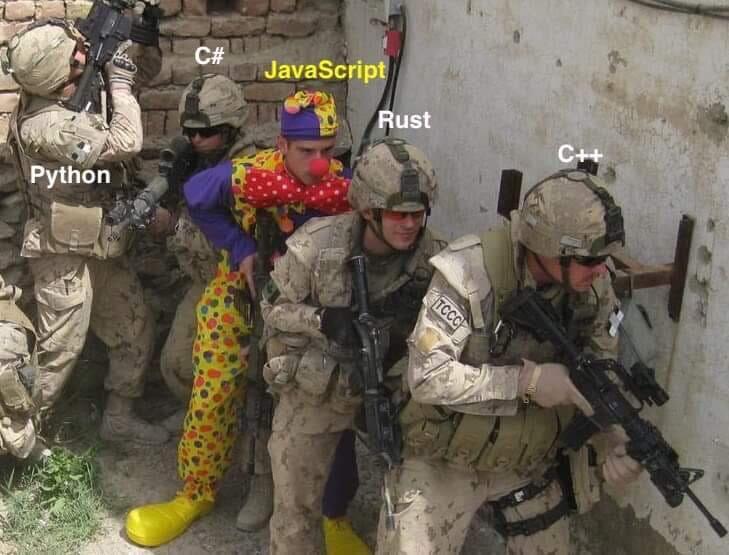 Programming languages meme