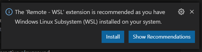 Remote WSL Extension in Visual Studio Code's markeplace.