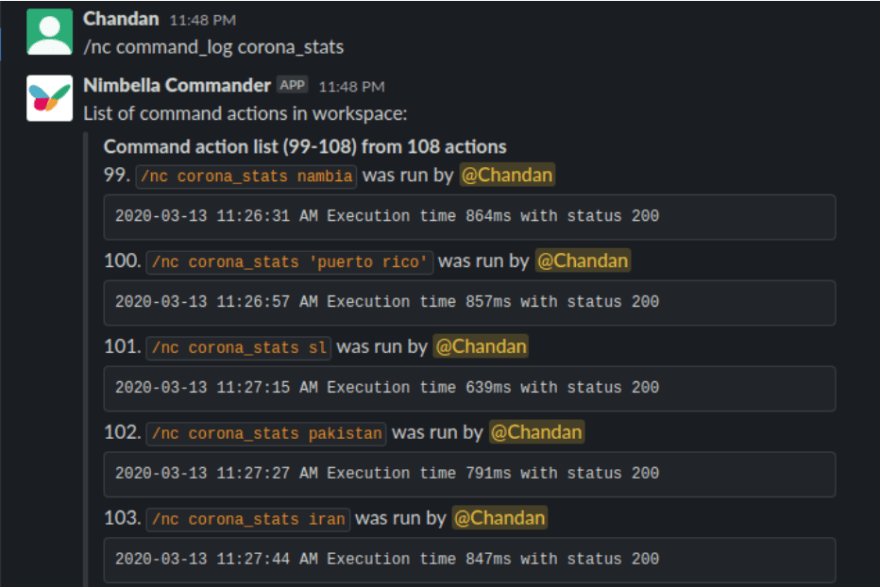 Command Execution Log