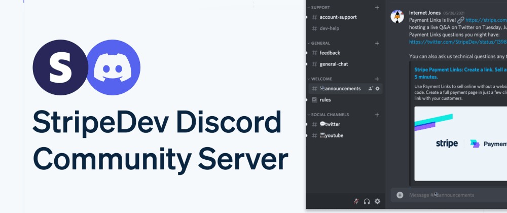Cover image for Introducing the StripeDev Discord community server