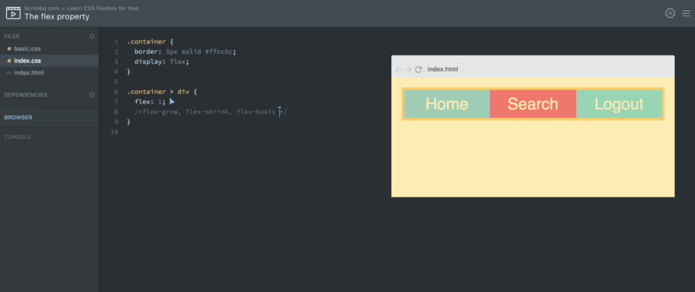 Cover image for Here's my free Flexbox course where you can build projects  interactively