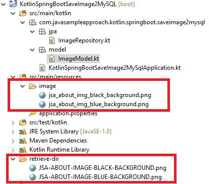 Kotlin Spring JPA save Files Images to MySQL - goal