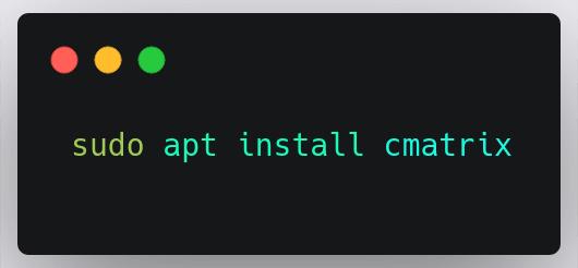 cmatrix-install