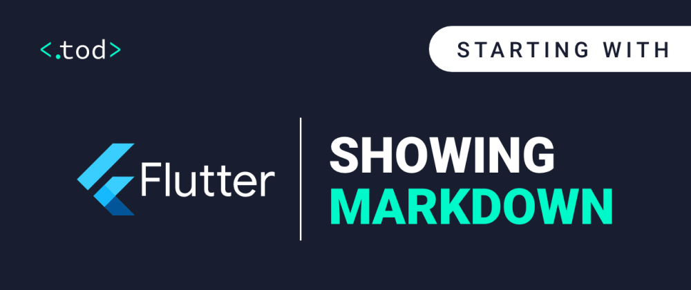 Cover image for Starting with Flutter: showing markdown