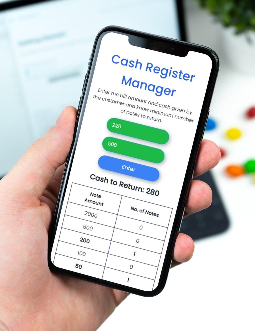 Cash Register Mockup