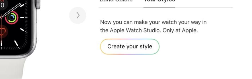 Gradient on button border (apple.com)
