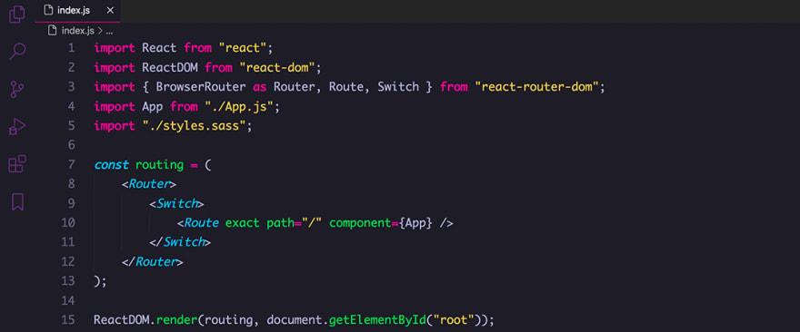 React code snippet with the Tinacious Design theme