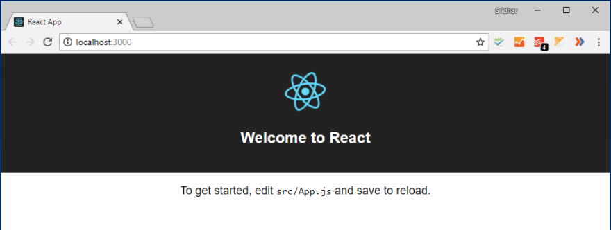 The React application