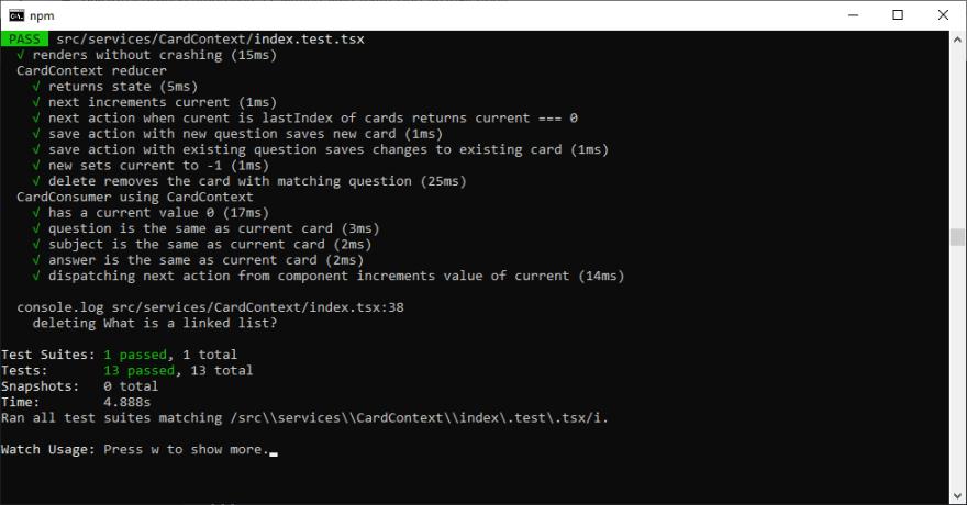 CardContext Delete Passes