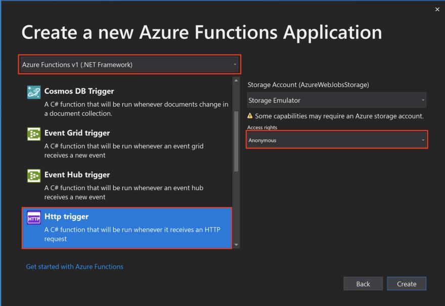 Create New Azure Function
